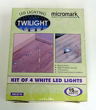 Micromark Twilight MM18194 Kit Of 4 White 15mm Oval LED's