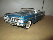 1959 chevy impala convertible roadster  MUSCLE 1/18 Blue  ROAD TOUGH no box