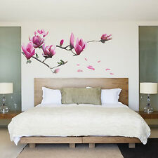 Wall Decal Sticker Removable Big Magnolia Flower DIY Art Room Decor