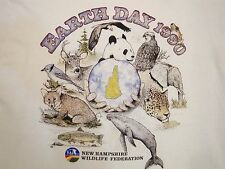 Vintage Earth Day 1990 90's New Hampshire Wildlife Animal Lover T Shirt M