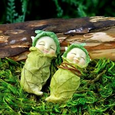Miniature Fairy Cabbage Babies set 2 Assorted  /Dollhouse Gnome  Garden 17285