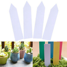 "100Pcs 4"" Garden Plant Pot Markers Plastic Stake Tags Nursery Seed Labels Decor"