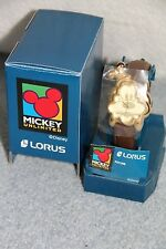 Lorus Disney Goofy Face Gold Tone Cool Men's / Teen Watch NEW OLD STOCK IN BOX
