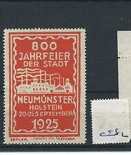 wbc. - CINDERELLA/POSTER - CE82 - EUROPE- 800 JAHRFEIER NEUMUNSTER HOLSTEIN 1925