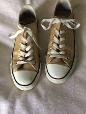 Gold Converse Fashionable Size 6 Metallic Limited Edition Sneakers Authentic Low
