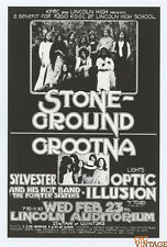 Stoneground Grootna The Pointer Sisters Handbill 1972 Feb 23 Lincoln Auditorium