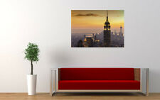 NEW YORK CITY SUNSET NEW GIANT LARGE ART PRINT POSTER PICTURE WALL