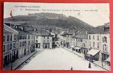 CPA. REMIREMONT. 88 - Place de la Courtine. Fort du Parmont. 1911. Enseignes.