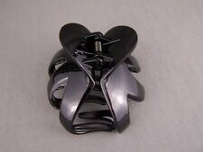 octopus hair clip Black shiny plastic metallic Big barrette claw clamp spider
