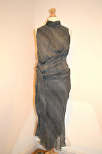 DESIGNER AMANDA WAKELEY ELEGANT BLACK&WHITE 100% SILK PARTY OCCASION DRESS 14