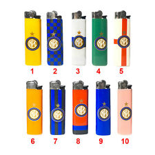 ★1 ACCENDINO BIC A GAS FC INTER ORIGINALE PIETRINA REGULAR VARI COLORI★