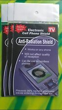 Mobile phone electromagnetic anti-radiation shield device protect product x 3