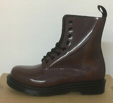 DR. MARTENS PASCAL OXBLOOD PETROL  LEATHER  BOOTS SIZE UK 8