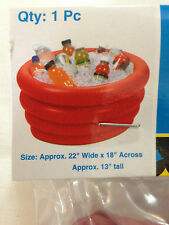 Inflatable Cooler Tub 22 inch Diameter With Repair Patch Kit 22x18x13 New Party