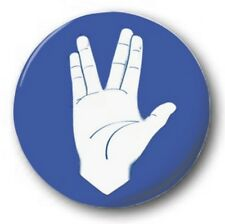 VULCAN SALUTE - 1 inch / 25mm Button Badge - Star Trek Spock Big Bang Theory