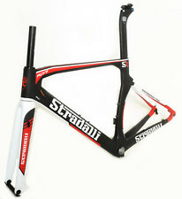 STRADALLI RD17 CARBON FIBER AERO DISC BRAKE ROAD BIKE BICYCLE FRAME SET 52CM S