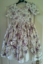 Pronuptia little bo peep Victorian floral bridesmaid dress approx age 5-6