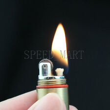 EDC Novelty Mini Gear Fire Flint Wick Kerosene Cigarette Cigar Lighter Keychain