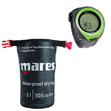 Mares Puck Pro Dive Computer Lime + Dry Sack 02UK