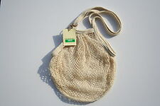 Boulevard String Shopping Bag made from recycled unbleached cotton,Long Handles