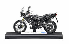 GENUINE TRIUMPH TIGER 800 1:18 SCALE MODEL BOXED IN CRYSTAL WHITE