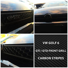 VW Volkswagen Golf CARBON Front Grill Stripes Decal Graphics 6 VI GTI GTD R Line