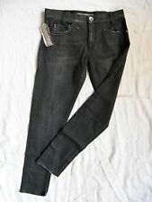 Miss Sixty Jeans W32/L30 Black Denim Stretch boyfriend loose fit medium waist