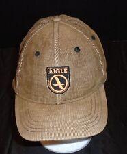 AIGLE Brown Corduroy HEX FLEX cap hat size L/XL