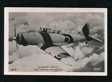 Aircraft Air Force Military RAF BLACKBURN SKUA II Fleet Dive Bomber RP PPC