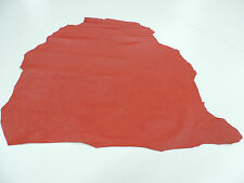 Leather Morocco Real Bookbinding red 1 Skin ca. 0,60 qm- 0,65 qm