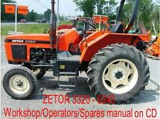 ZETOR 3320-6340 Workshop/Operators/Spares manuals on CD