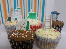 x24 painter and deco edible wafer paper stand up cup cake toppers PRE-CUT