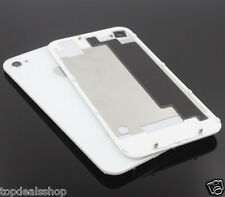 Replacement Rear Glass Back Cover Battery Door For Apple iPhone 4 4G A1332 White