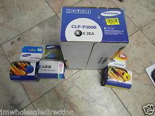 GENUINE Samsung 2 BLACK CLP-P300B Toner CLP-300 CLX-2160n CLX-3160fn CLP-C300A