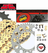 Honda CB500 S-W-Y,1,2 98-03 Gold Heavy Duty X-Ring Chain and Sprocket Kit Set