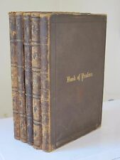 The New Testament and Psalms in 5 volumes 1857 American Bible Society Leather