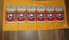 "NEW Universal Studios Authentic The Simpsons Duff Beer Beach Towel 29"" x 59"""