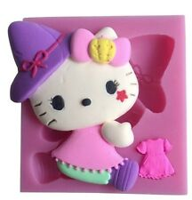 Large Hello Kitty Silicone Mould Fondant Birthday Cake Topper Modelling Mold
