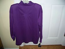 NWT Bella Mia Purple Pull-Over Top Long Sleeve Size M Tunic Collar