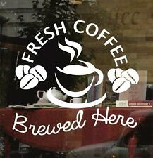 Coffee Shop Window Sticker