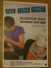 The Ting Tings A3 Glasgow 2008 tour concert gig poster