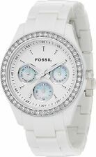 Fossil (Open Box) Stella White Multifunction Ladies Watch ES1967