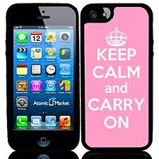 Pink Keep Calm and Carry On For Iphone 6 Case Cover