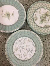 Fitz and Floyd Monterey Green Lunch Salad Plates Set 8 Trellis Portrait Collage