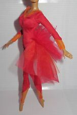 BODYSUIT ~ MISTY COPELAND BARBIE DOLL RED BUSTY LEOTARD BALLET BALLERINA COSTUME