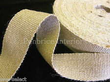 6 reels of STRONG jute upholstery chair webbing seat seating rolls 198m Bulk lot