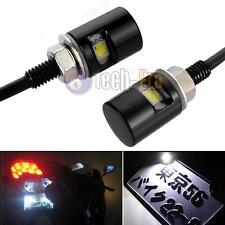2x White 5730-SMD Bolt-On LED License Plate Lights For Car or Motorcycle Bike
