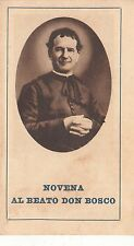 SANTINO 27 NOVENIA AL BEATO DON BOSCO STAMPA DEL 1929 COMPOSTO DI 4 PAGINETTE