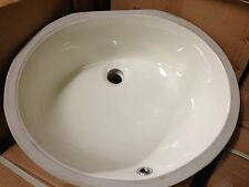 "Bisque Under Mount Bathroom Vanity Sink 17"" x 14"" Bowl"