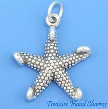 STARFISH SEA OCEAN STAR FISH 3D .925 Solid Sterling Silver Charm Pendant